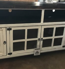 Texas Rustic Antique White TV Stand