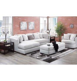 American Furniture Parker Silver Ottoman