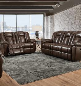 Washington Furniture Liza Chocolate Dual Recliner Sofa