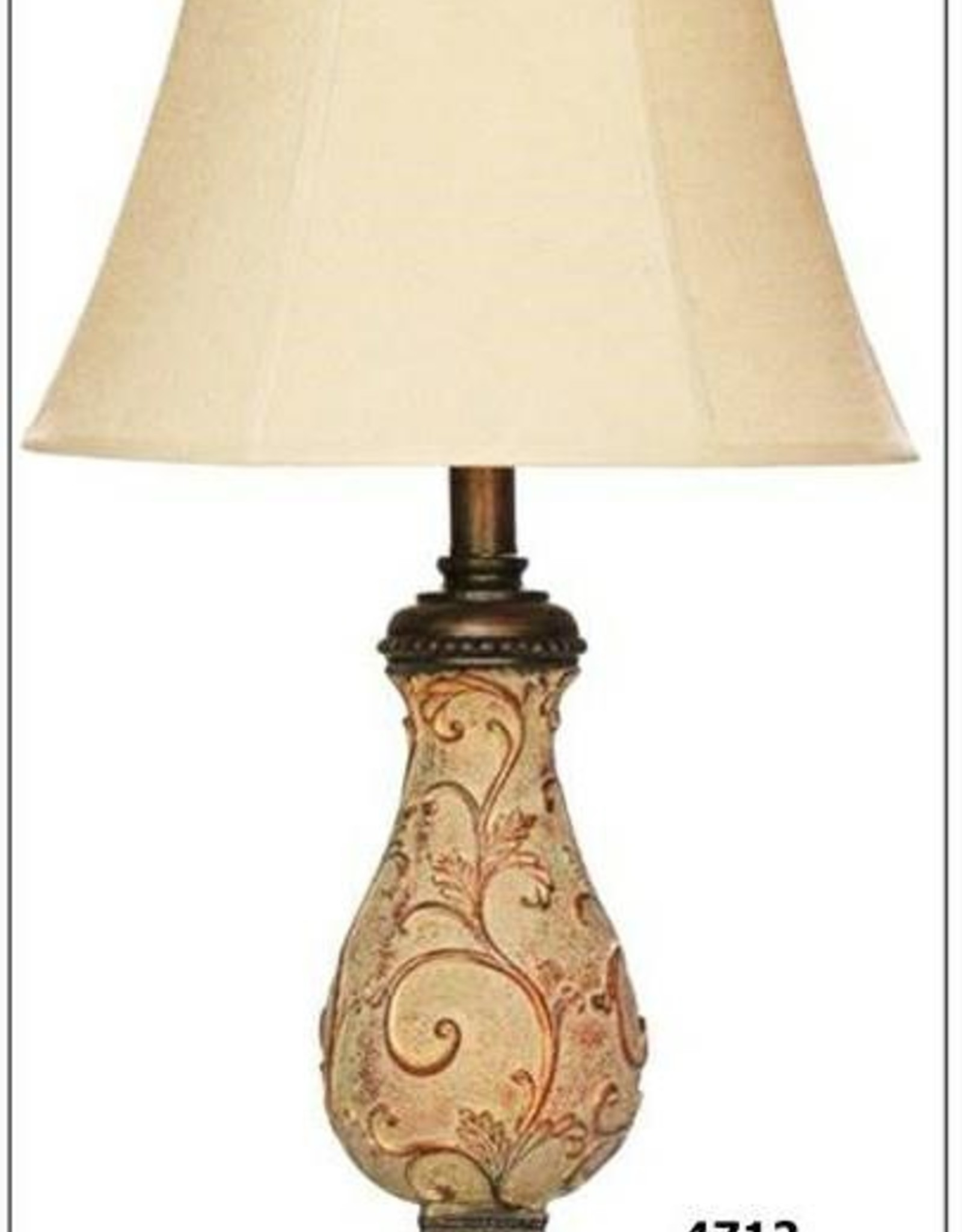 H&H 4712 Berber Finish Lamp