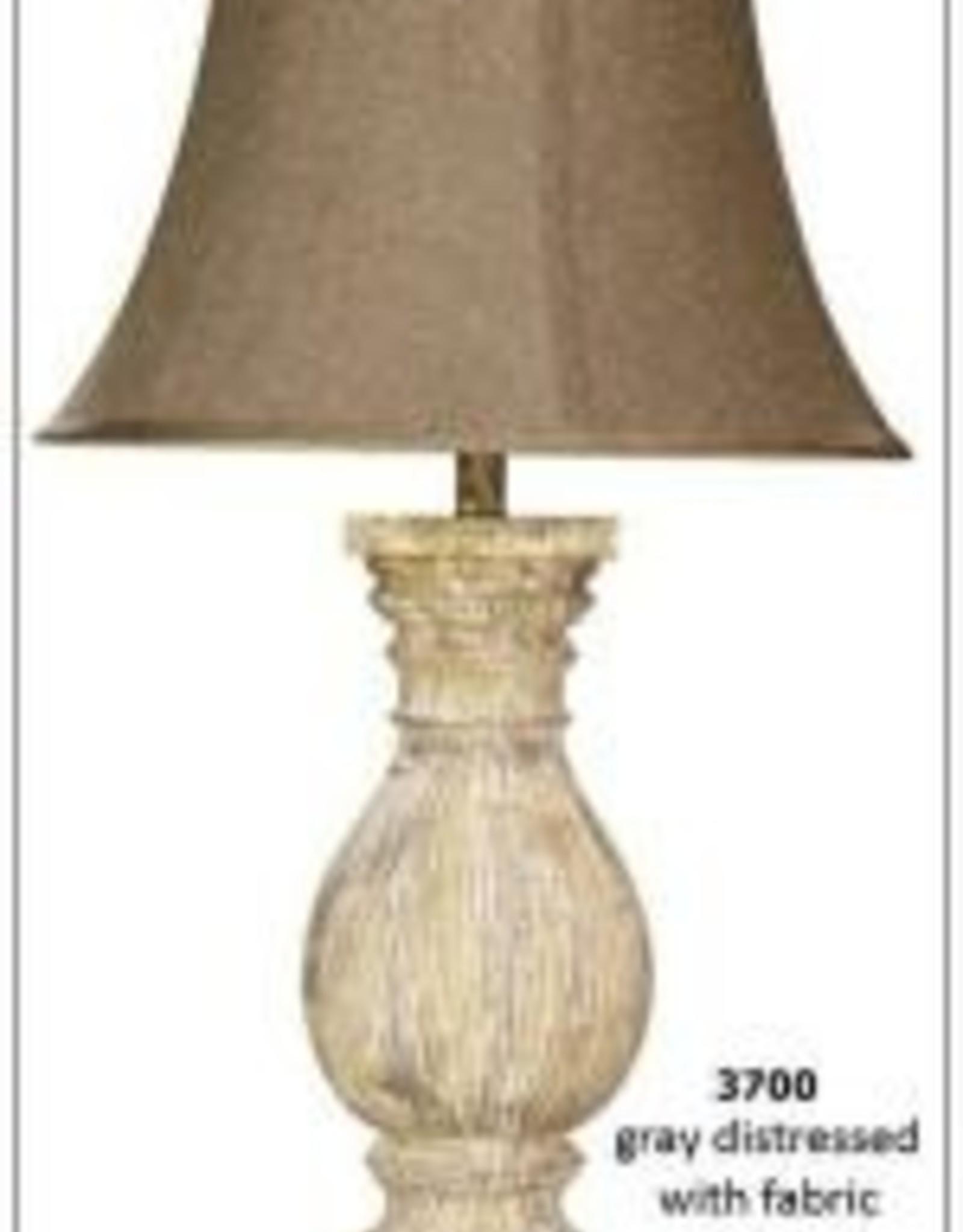H&H 3700 Gray Distressed Lamp
