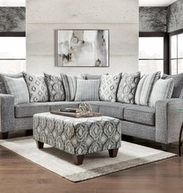 CLS Stonewash Charcoal Sectional