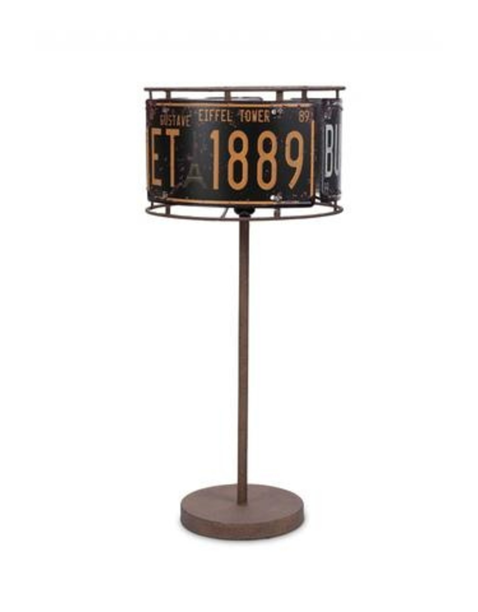 "LUX LIGHTING 27"" License Plate Table Lamp"