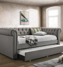 Coaster Gray Daybed w/trundle