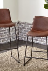 "Kith Furniture 24"" Brown Padded Barstool"