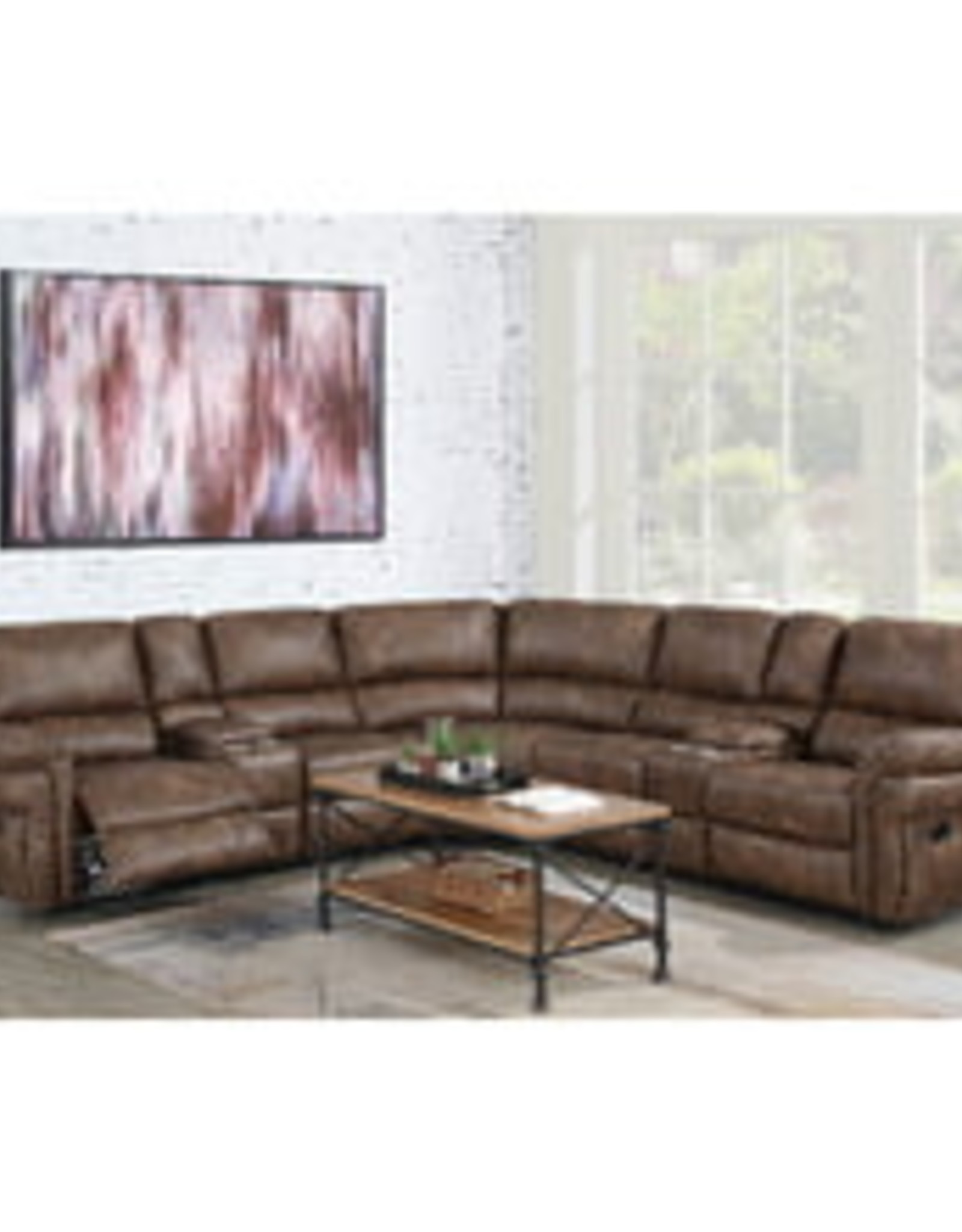 Elements Cardinal Toffee Reclining Sectional