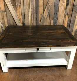 Texas Rustic MO-CEN 1 Coffee Table Antique White