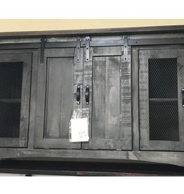 Texas Rustic JM-COM 153 Gray Barn Door TV Stand 60""