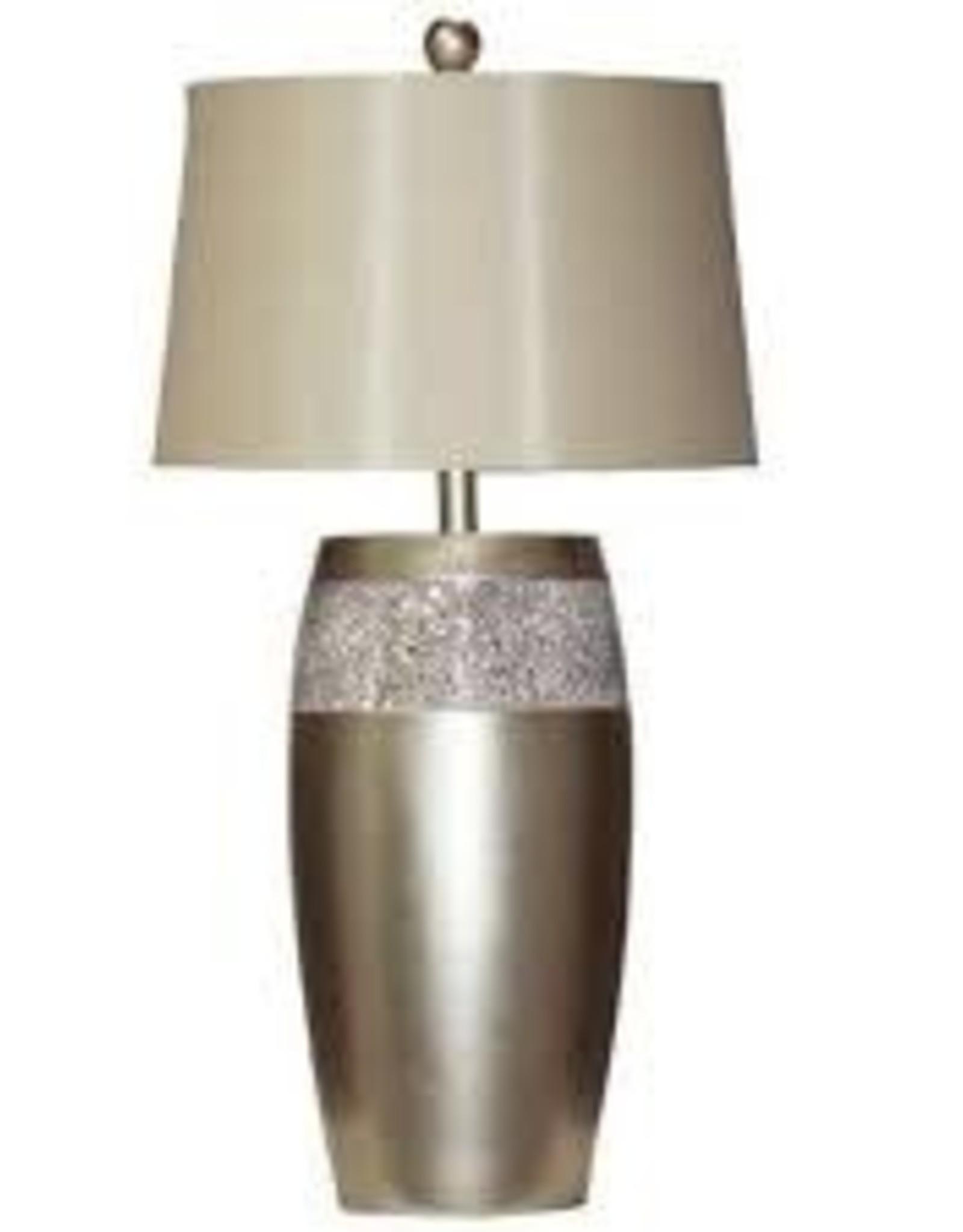 H&H 1150 Silver Gold Metallic Mirror Lamp