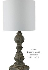 H&H 1233 Burnt Distressed Lamp