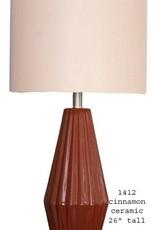 H&H 1412 Cinnamon Ceramic Lamp
