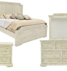 Vintage Furniture LLC Westgate White Queen Bed,D,M,C,NS