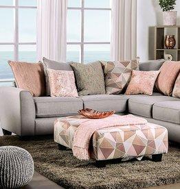 FOA Harriden Pink Toned Sectional