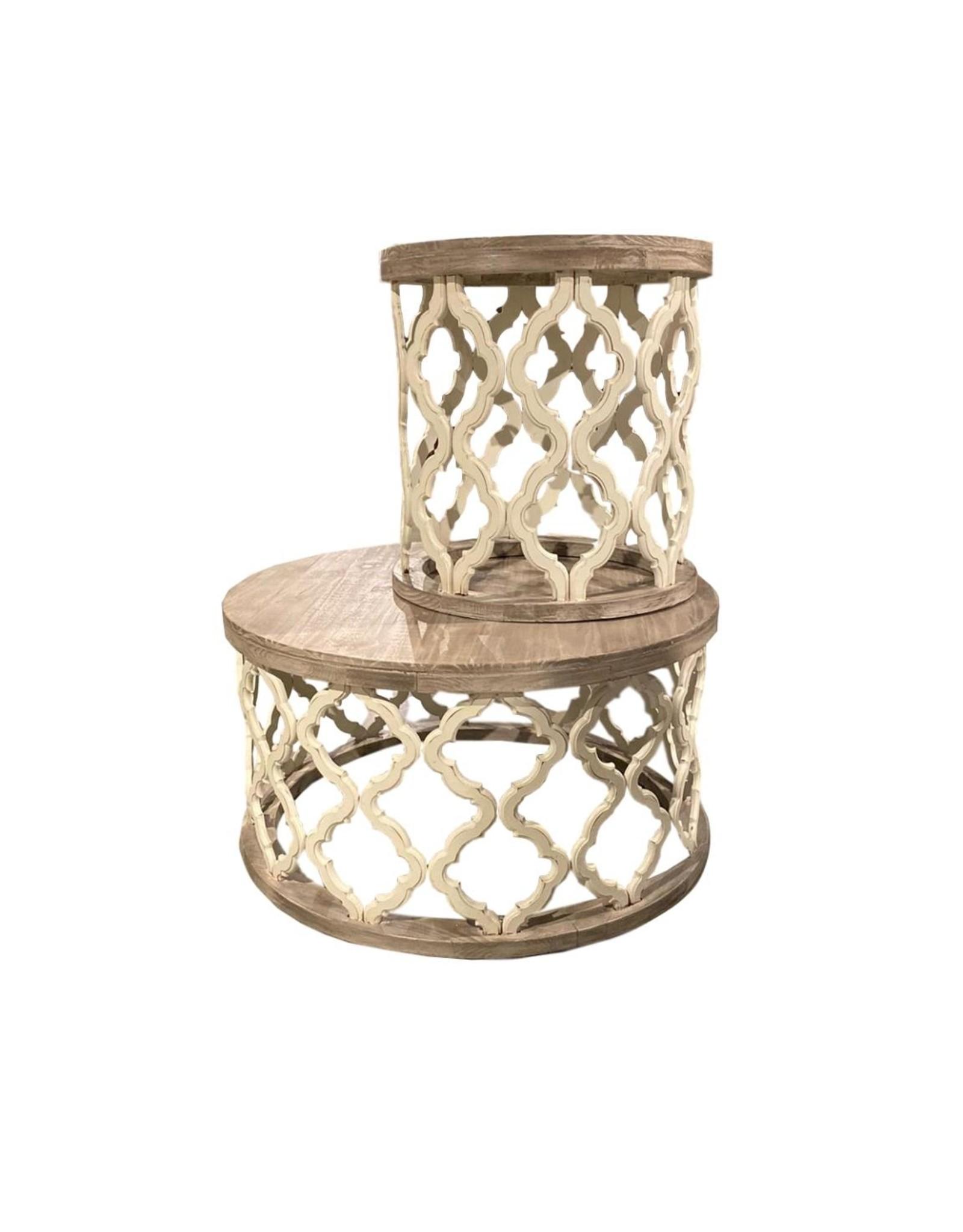 Vintage Furniture LLC Brocade Coffee Table (Nero White)