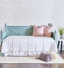Elements Woodhaven Twin- Wood Daybed- Distressed Blue