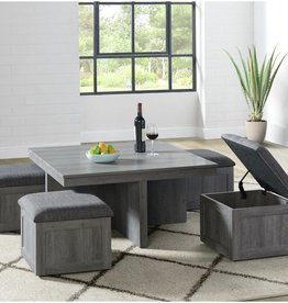 Elements Uster Coffee Table w/four storage Stools