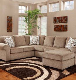 Affordable Furniture Jesse Cocoa Sectional + Ottoman