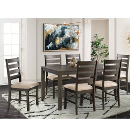 CLS Brock Dining Table w/6 Side Chairs
