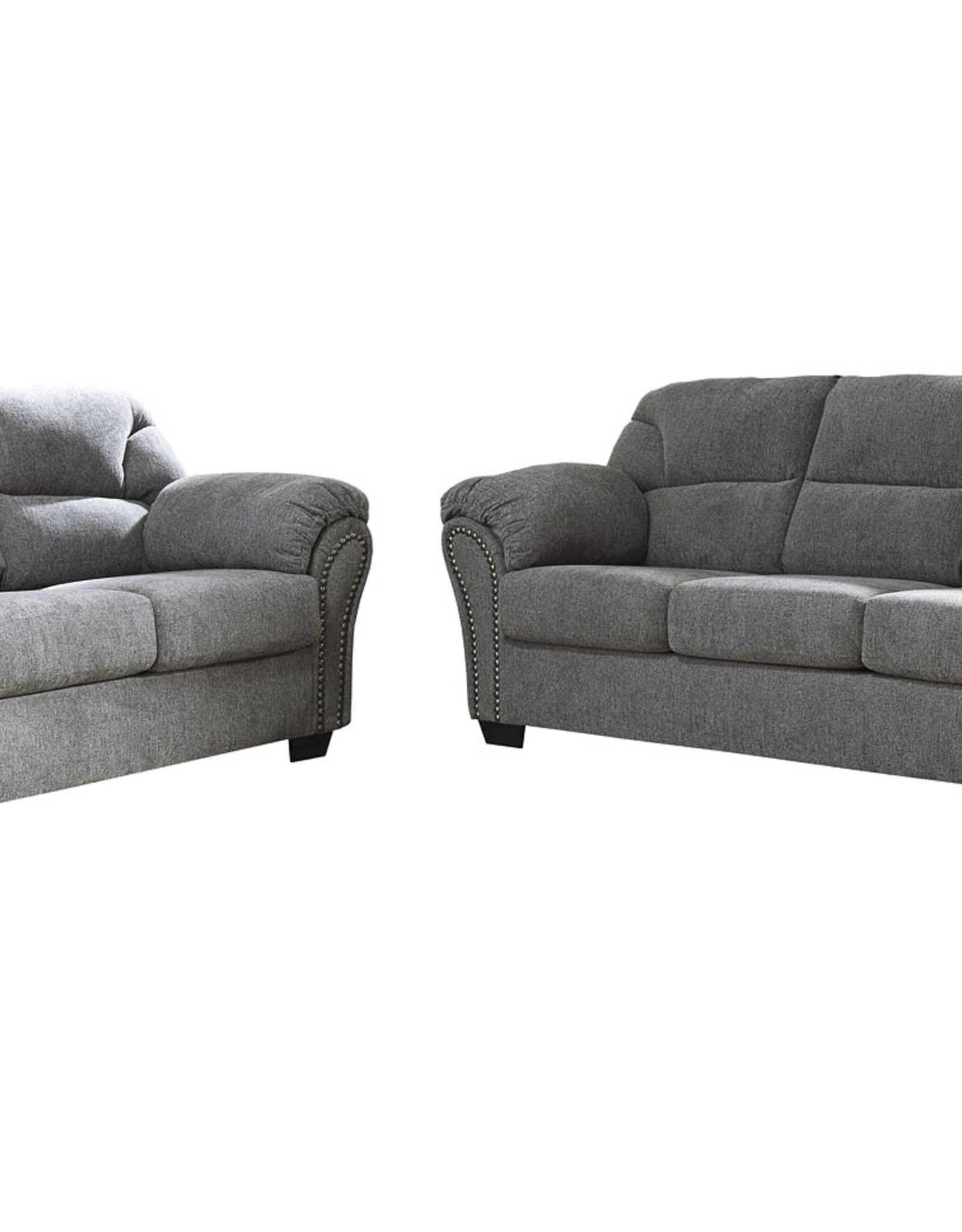 CLS Allmaxx Pewter Sofa and Loveseat