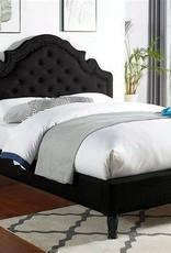 FOA Aubree Black Eastern King Upholstered Bed
