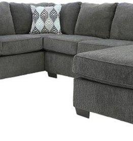 Affordable Furniture Charisma Smoke Sectional + Ottoman