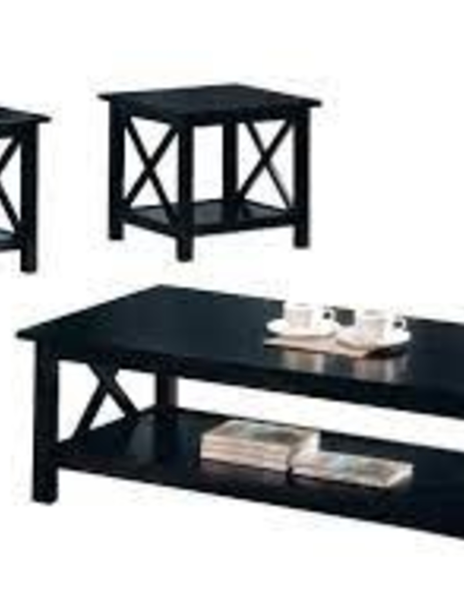 Coaster 3 PC Coffee Table Merlot SET