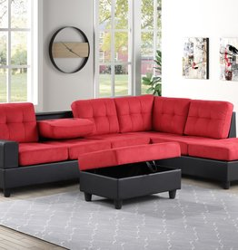 MYCO Albert Reversible Sectional : Red