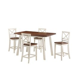 Standard AMELIA COUNTER HEIGHT DINING SET W/ 4 CHAIRS