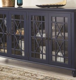 Kith Furniture Harpers Branch Sapphire Blue Accent Chest