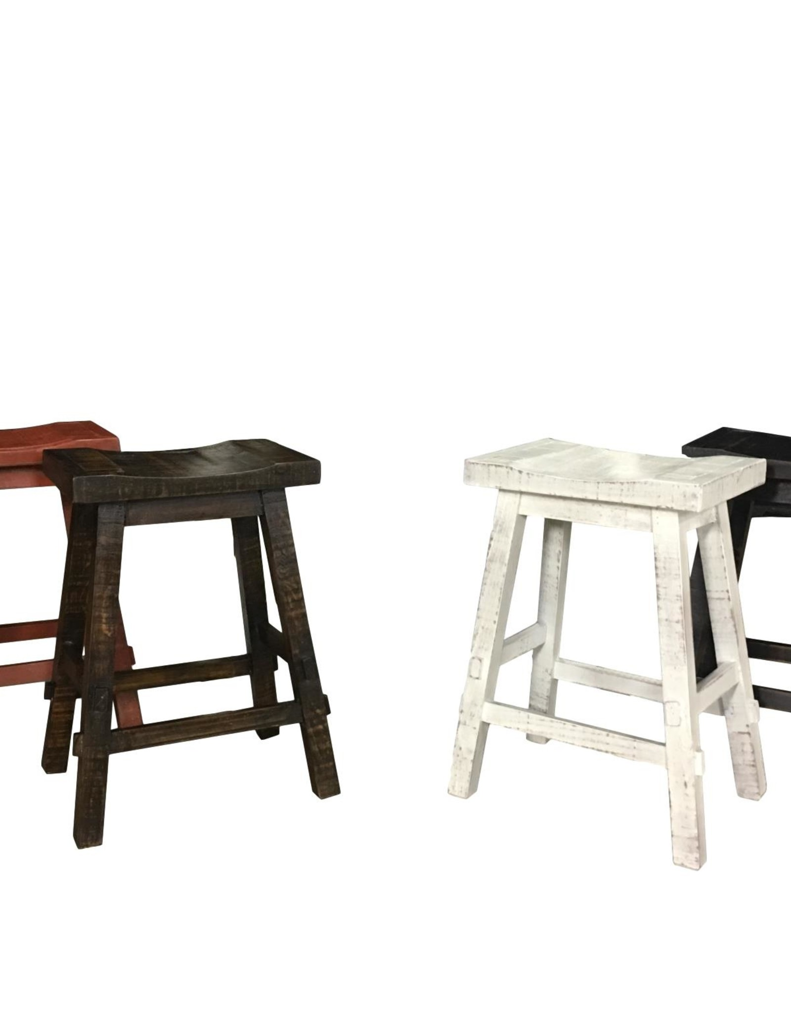 """Vintage Furniture LLC 24"""" Counter Tall Curved Barstool: Rodeo"""