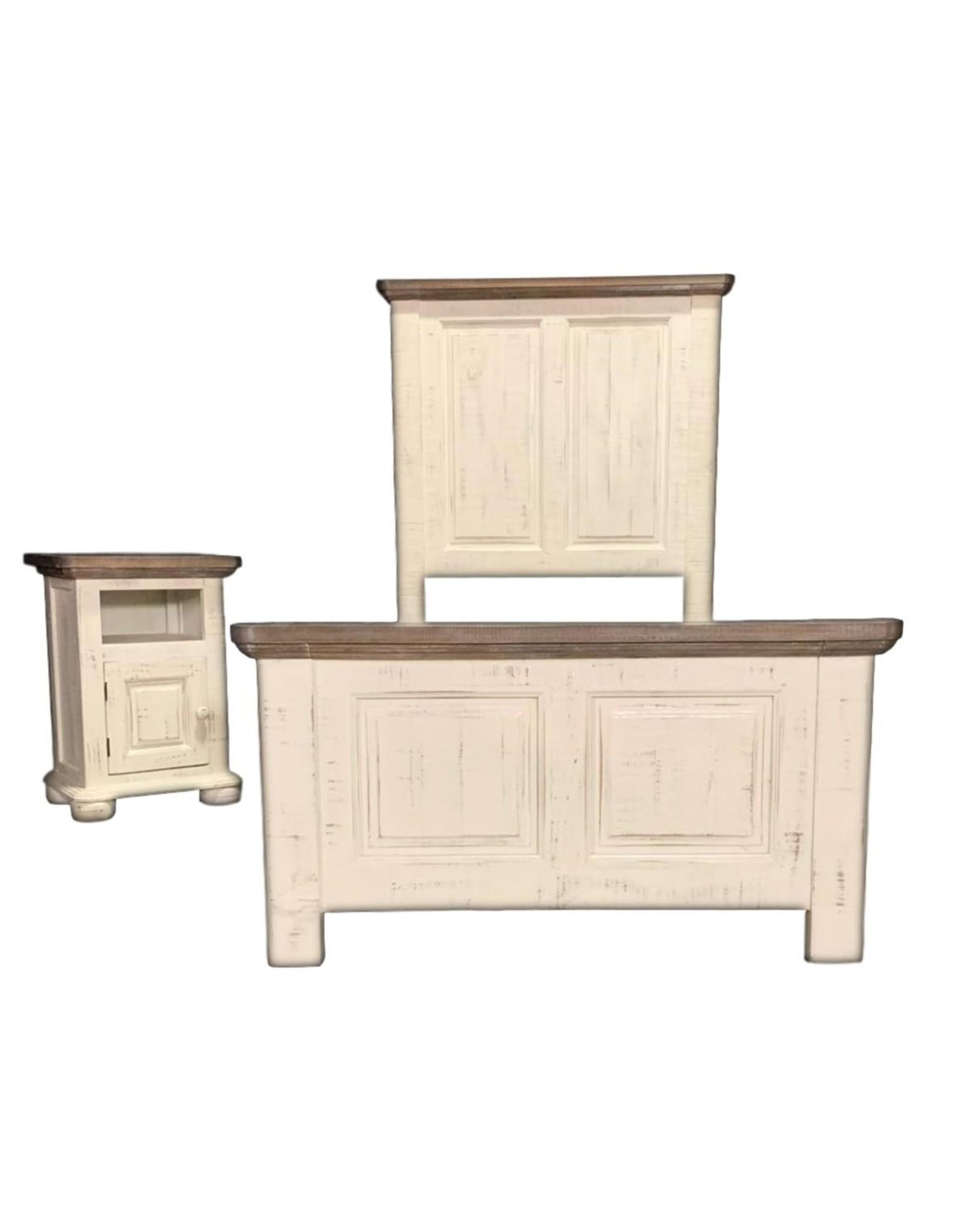 Vintage Furniture LLC Allie Full Bed,D,M,C & NS : Nero White (VINTAGE)