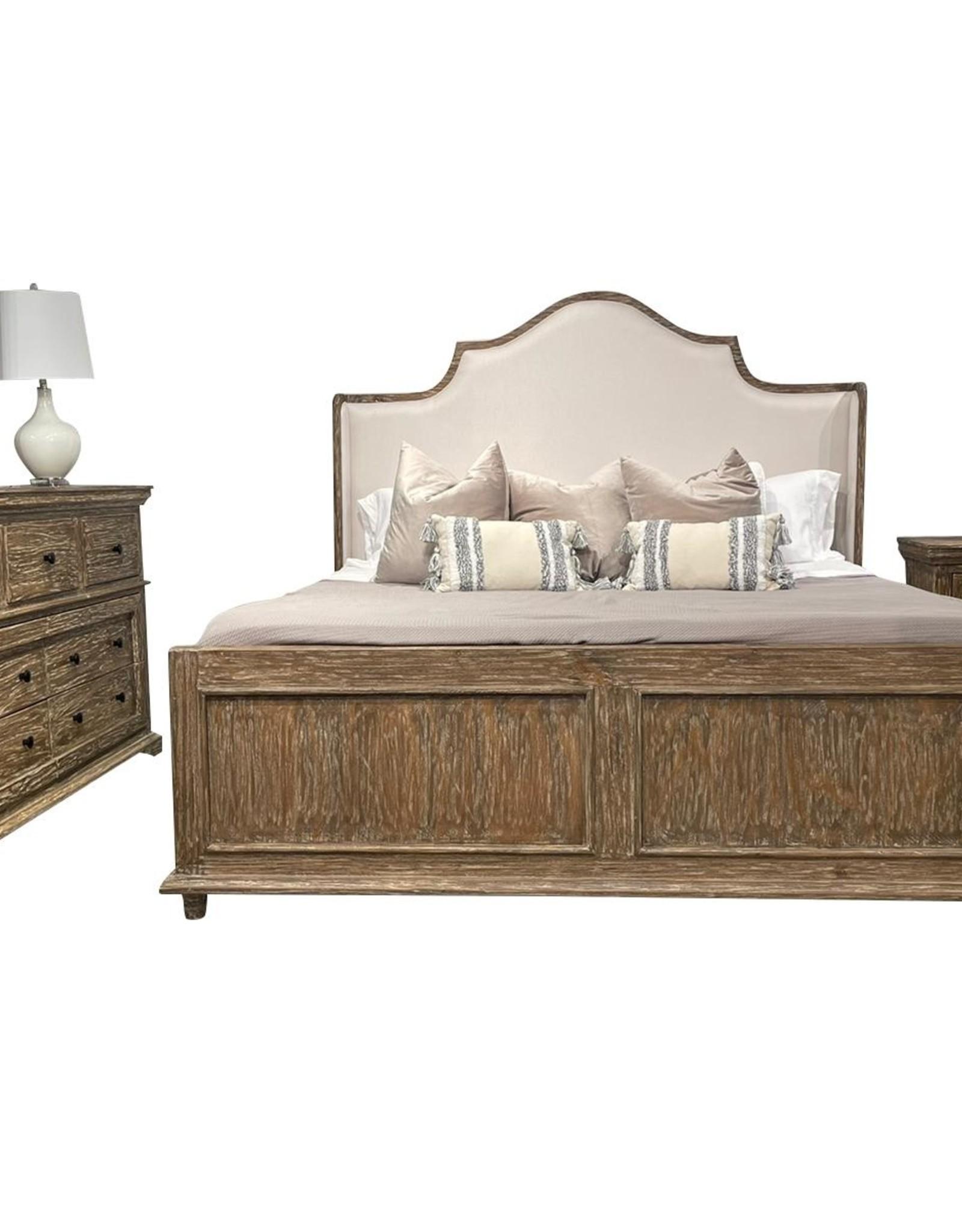 Vintage Furniture LLC Ambrosia Queen Bed,D,M,C,NS : Almond (Vintage)