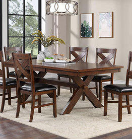 A PLUS INTERNATIONAL Harrison Hickory Dining Table w/6 Chairs