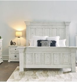 Elements Olivia White Queen Bed,D,M,C,NS