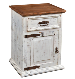 CLS Rustic Mansion Nightstand : White Distressed