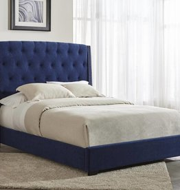 Kith Furniture Royal Blue Queen Upholestered Bed