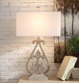 Crestview Crestview Fleur De Lis Table Lamp