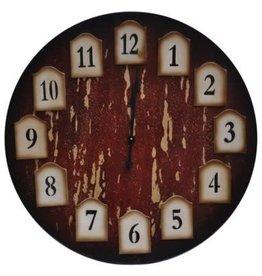Crestview Crestview Distressed Redwood Clock