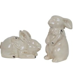 Crestview Crestview Laying & Standing Rabbit Set