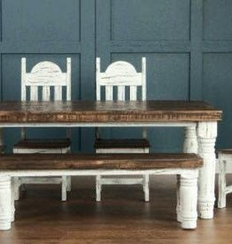 CLS Rustic Santa Rita Bench White Distressed