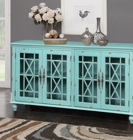 Kith Furniture Blue Turquoise Accent Stand