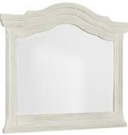 Vaughan-Basset Rustic Hill White Arch Mirror