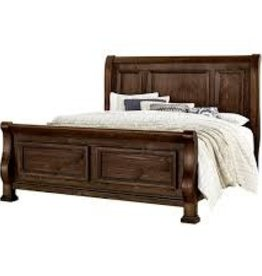 Vaughan-Basset Rustic Hill Coffee King Sleigh Bed