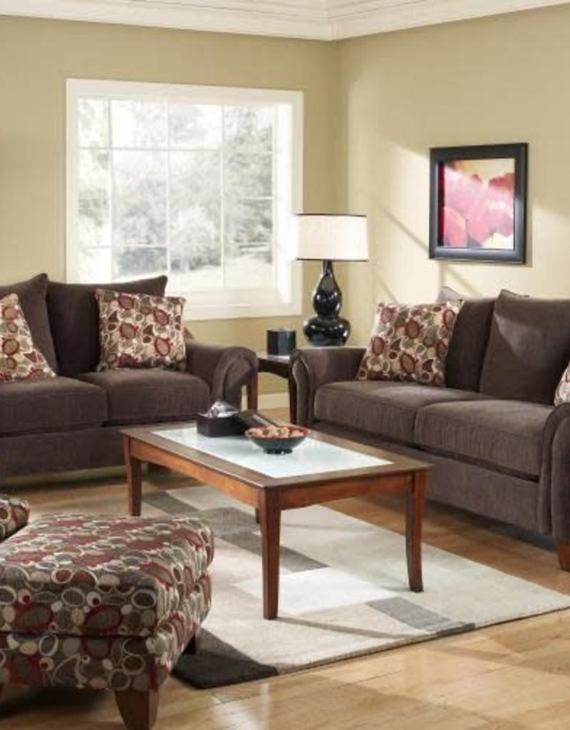 Corinthian Dark Loveseat R B Furniture