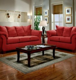 Affordable Furniture Sensation Red Brick Sofa
