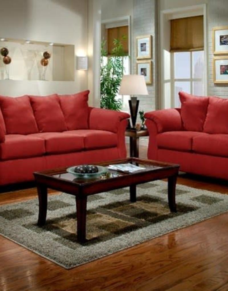 Affordable Furniture Sensation Red Brick Sofa