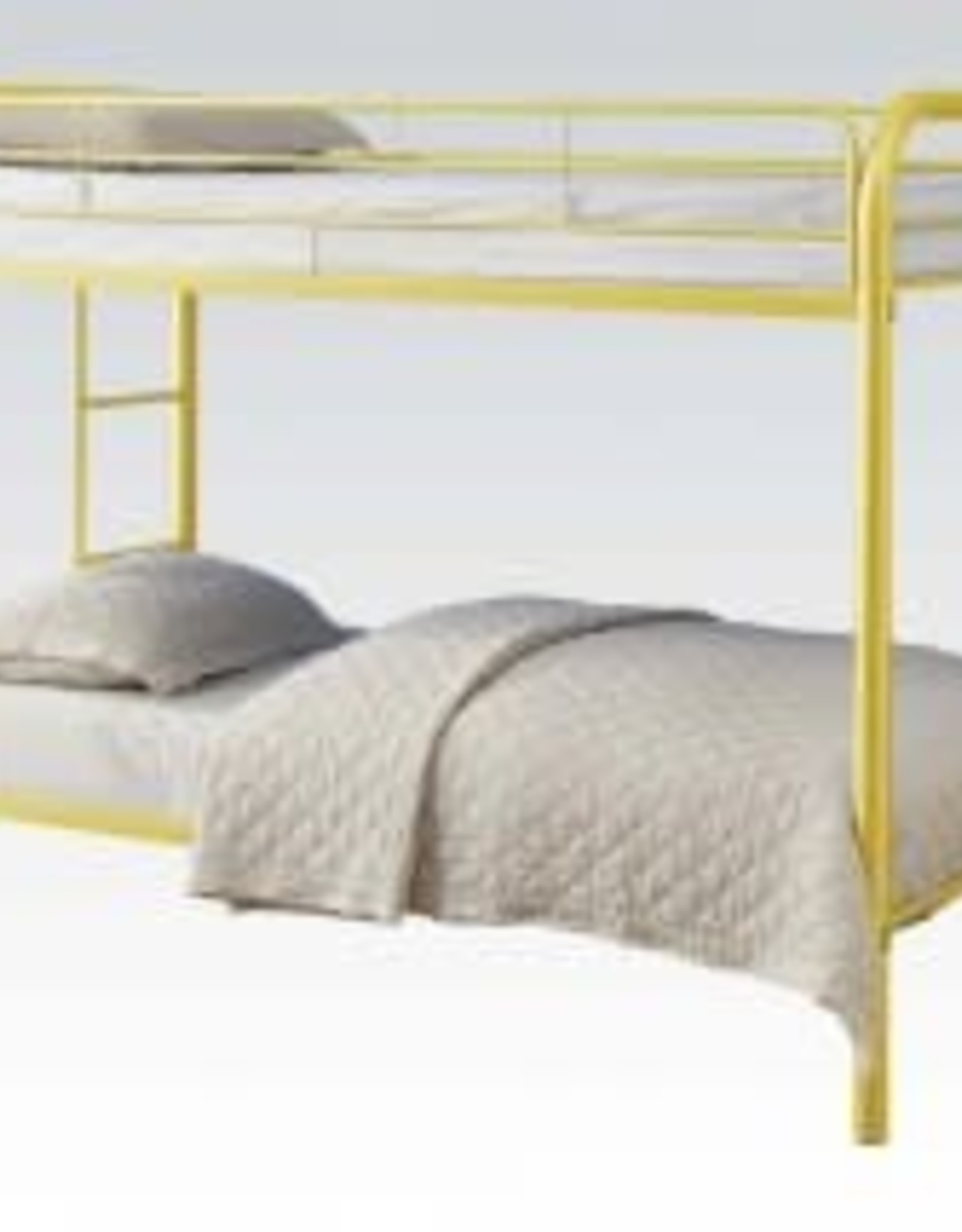 Acme Twin Twin Yellow Metal Bunkbed