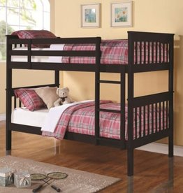 Coaster Twin Twin Cherry Bunkbed