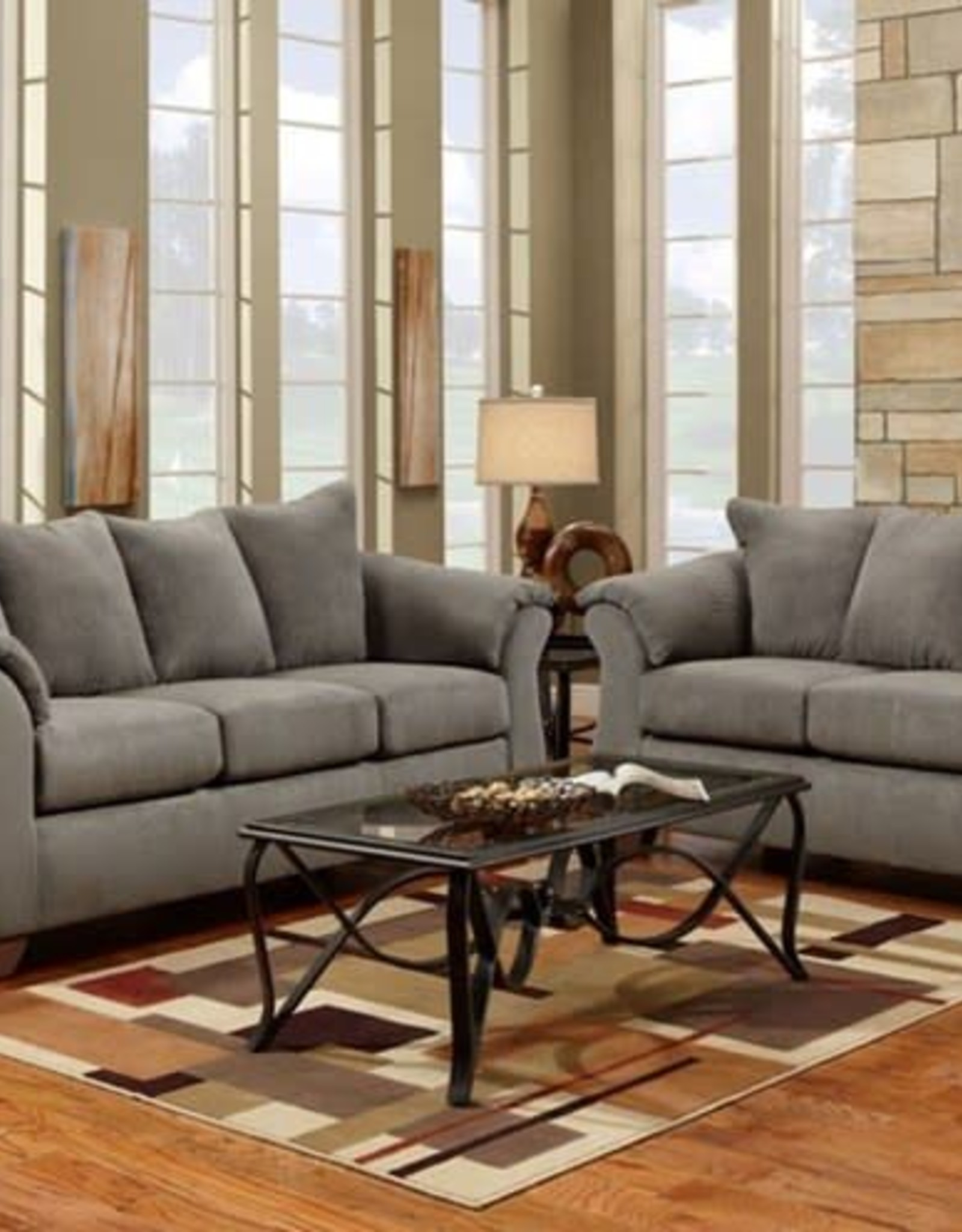 Affordable Furniture Sensations Grey Sofa