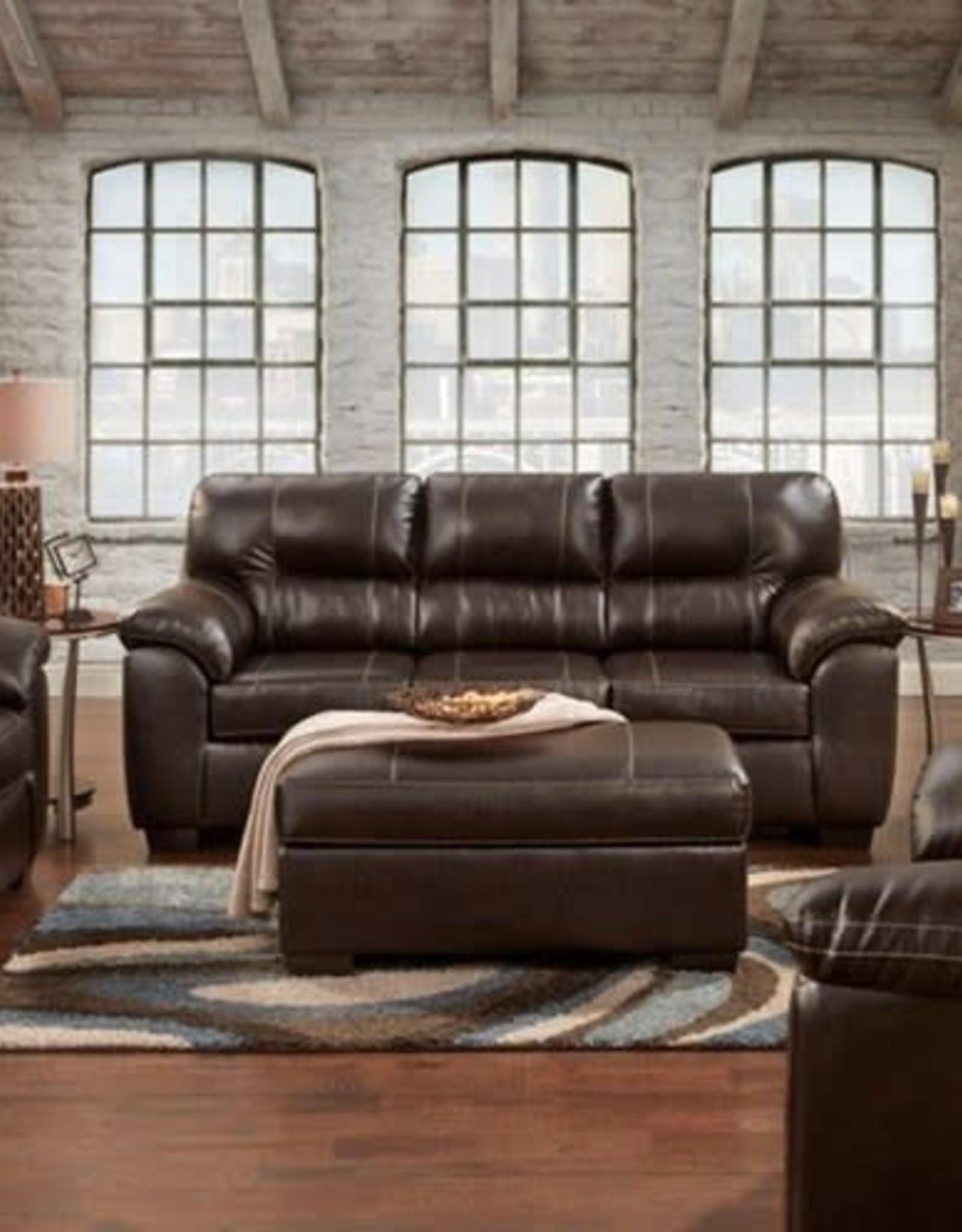 Affordable Furniture Austin Chocolate Sofa